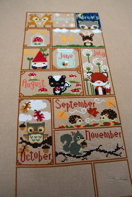 Woodlands Sampler Progress