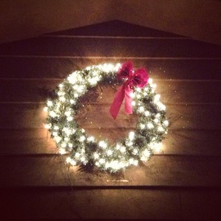 Our only #Christmas decoration up so far #wreath