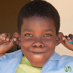 Namibian School Boy, Goofing Around - Spitzkoppe, Namibia