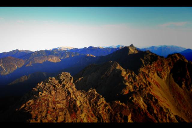 奥穂高岳の景色