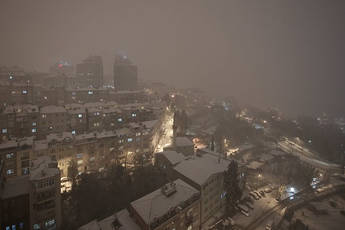 Snowing on Istanbul