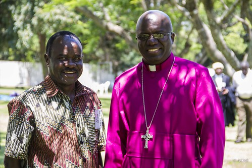 CAPA Secretary General Canon Grace Kaiso with Central Africa Archbishop Albert Chama