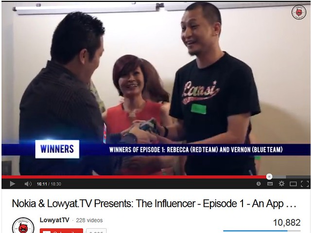 winner episode 1 - Nokia The Influencer