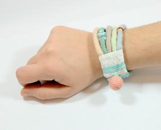 pastel felt bracelet