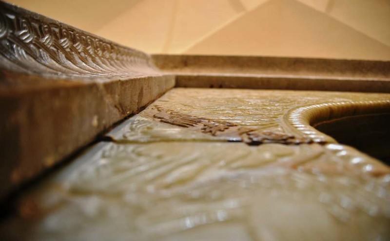 211 Detalle del labrado en los marcos de las puertas en los Antiguos Baños en la plaza Central de Kerman (22)