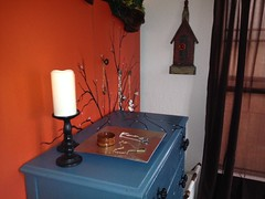 Elves In Disguise 2013: One Elf refinished the dresser. Another Elf painted the wall.