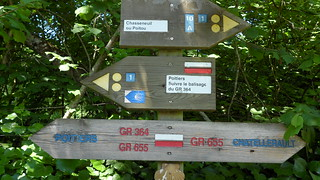 """Randonnée sentiers """"GR 655 - GR 364"""""""