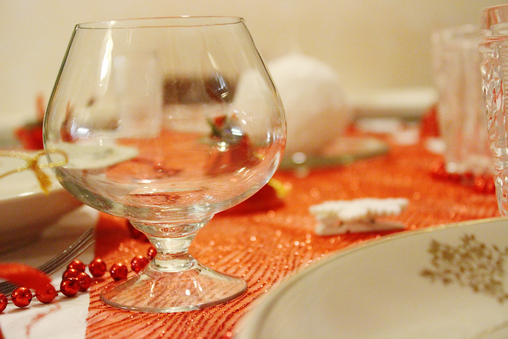 whiskey glass, christmas decorations