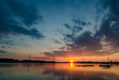 camera travel sunset sky sun lake water japan clouds sunrise day cloudy january newyear chiba leslie taylor gaijin abiko teganuma lestaylorphoto