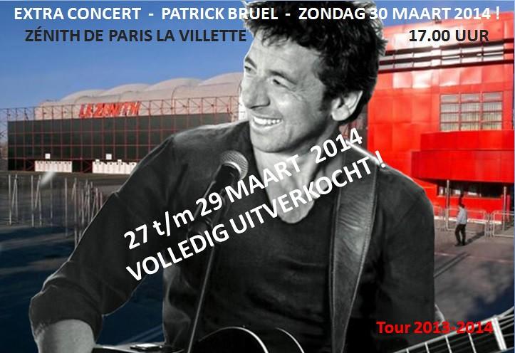 Patrick Bruel Extra concert in Zénith