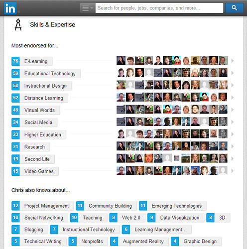 LinkedIn Endorsements for Fleep 2014
