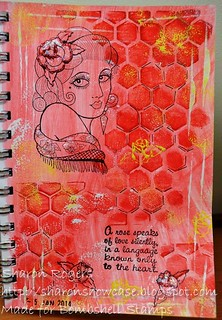 Roses Portrait Journal Page 001