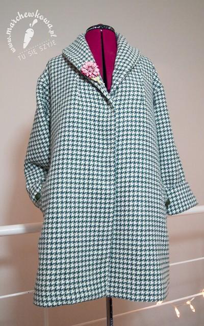 szyciowy blog roku, marchewkowa, szycie, krawiectwo, sewing, moda, fashion, retro, vintage, 50s style coat, płaszcz, wełna, pepitka, Burda 11/2005, 124