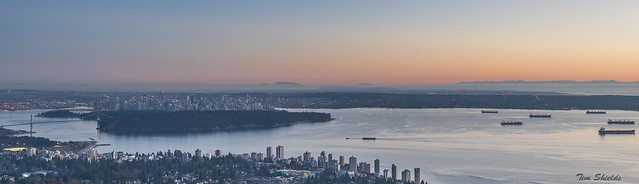 Panorama of the City of Vancouver