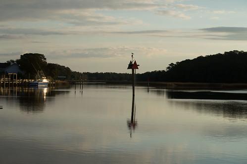 sunrise reflections river landscape boats harbor nc dock nikon waterfront ships northcarolina shrimpboats calabash coastalwaterway easterncarolina calabashnc d800e richstrobel