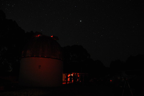 Members observing at Mount Burnett Observatory