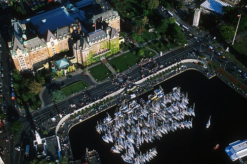 The Empress Hotel in Victoria, Vancouver Island, British Columbia, Canada