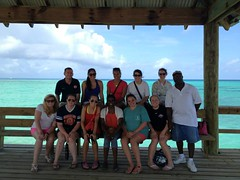 On a visit to the Bahaman island of Eleuthera, students learned about Princess Cays, a beach resort owned and operated by Princess Cruises.