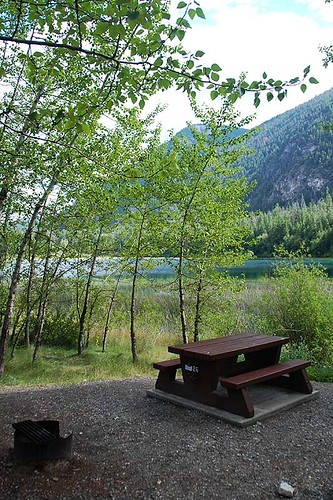 Campsite at Marble Canyon Provincial Park, Pavilion Mountain, Cariboo, British Columbia, Canada