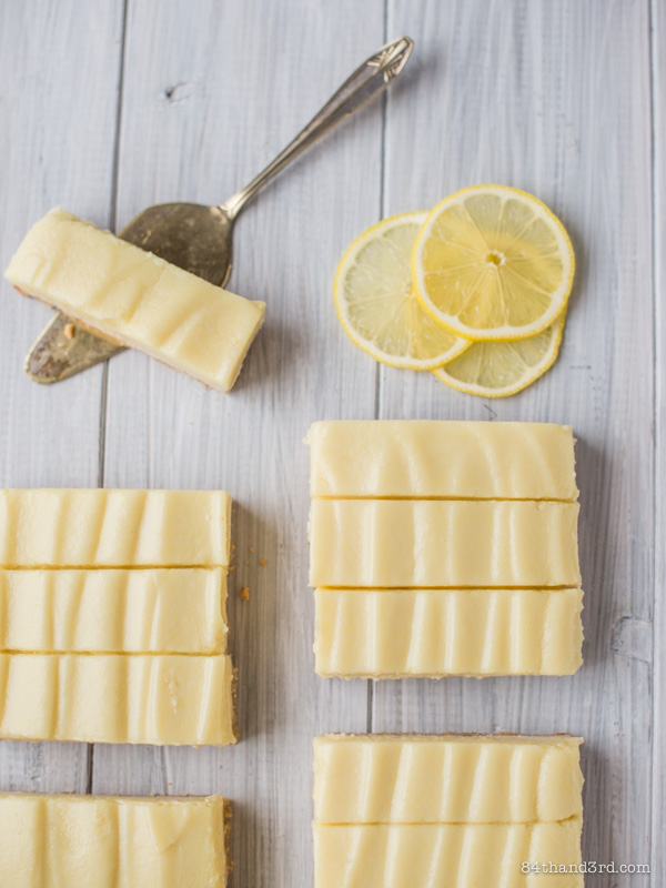 Vegan Lemon Custard Cheesecake Bars