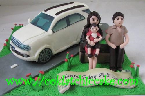 Kue ulang tahun dengan tema cake toyota fortuner model ini mulai dari