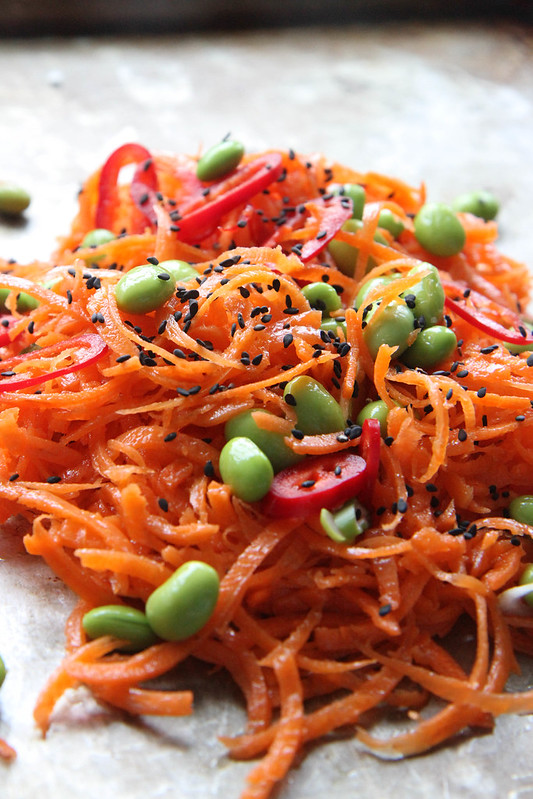 Carrot Salad with Chili Sesame Vinaigrette