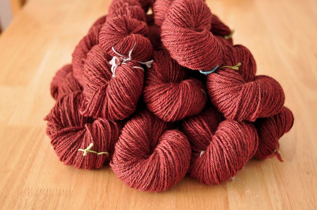 so much red handspun!