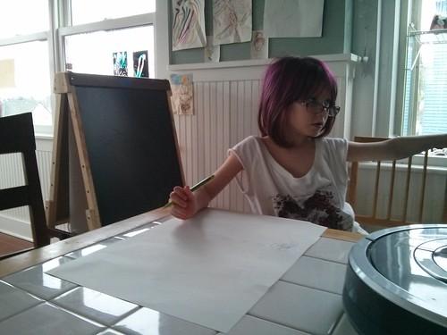Dress sketching