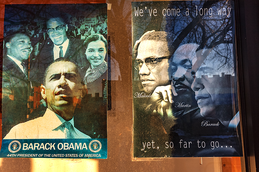 We've-come-a-long-way-Obama-poster-on-2-19-14--Chicago