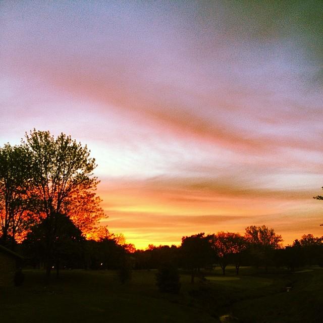 Always better in Real Life #shirleyruns #sunrise #seenonmyrun