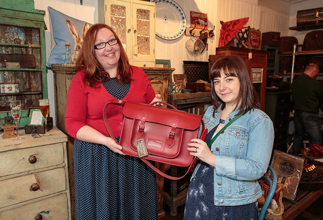 Very Vintage Scaramanga Joanne sells red satchel_Web