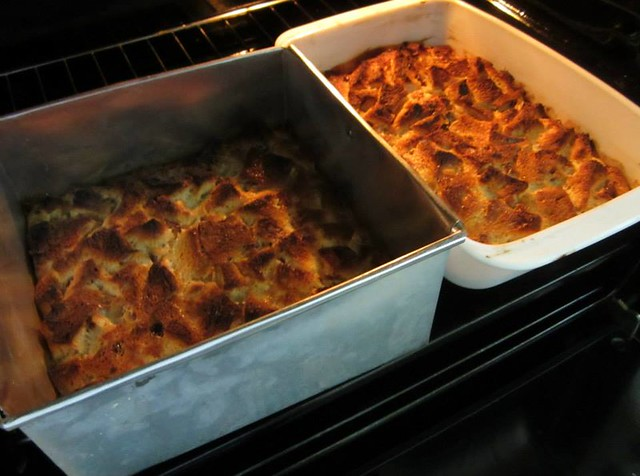 Two bread puddings