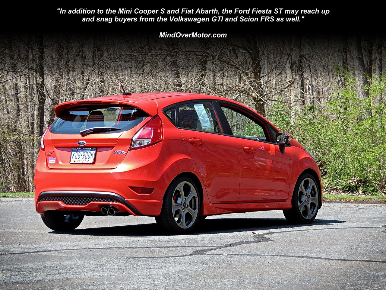Ford Fiesta ST rear quarter view