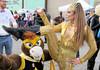 San Francisco Superhero Street Fair 2016:  Masked Mustang and the Solid Gold Goddess!