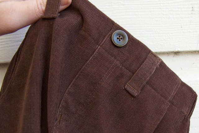 corduroy Parsley pants button
