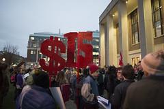 Rally demanding $15/hr minimum wage