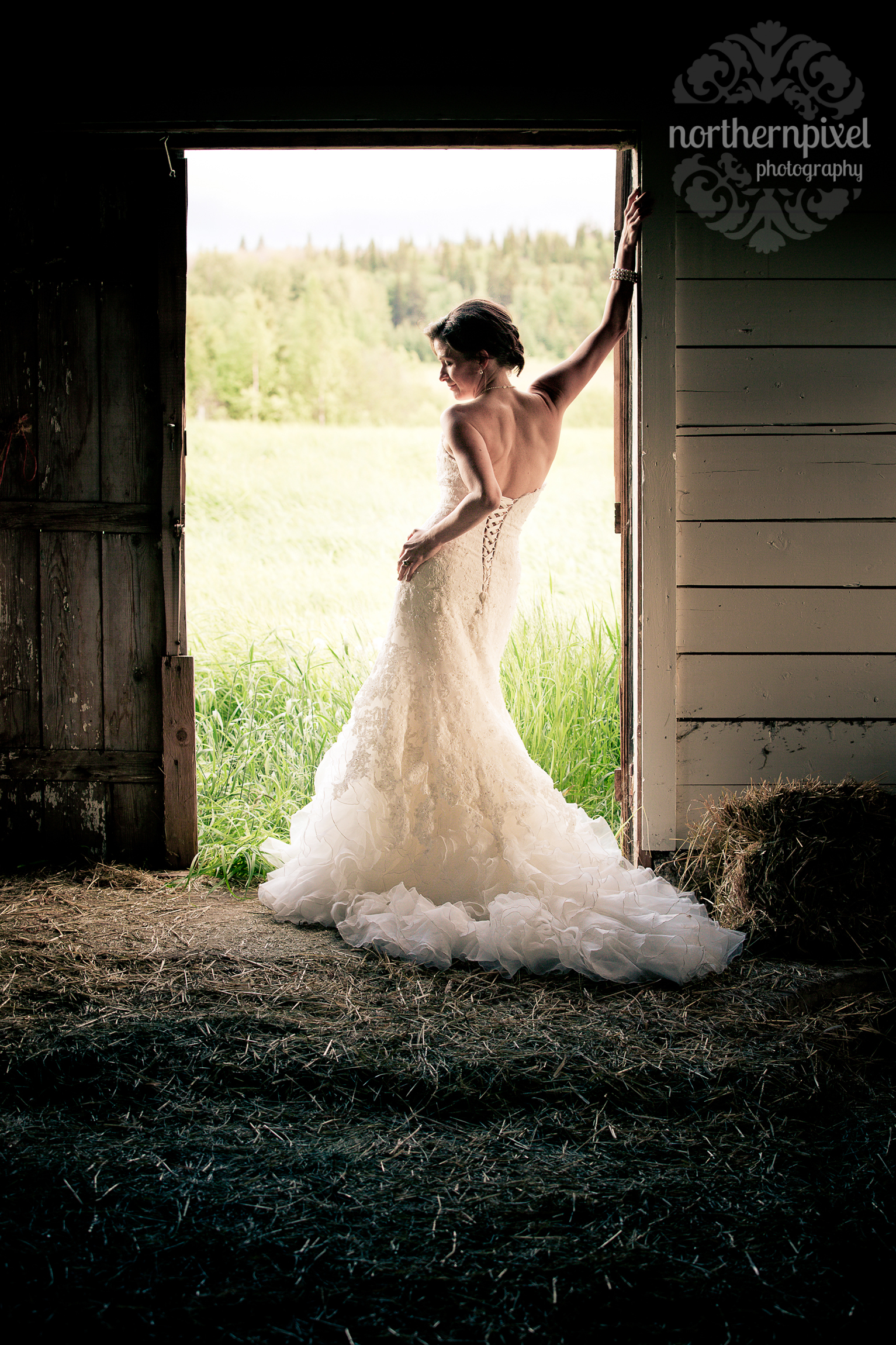 Prince George British Columbia Wedding Photographer The Gallery Bridal Dress
