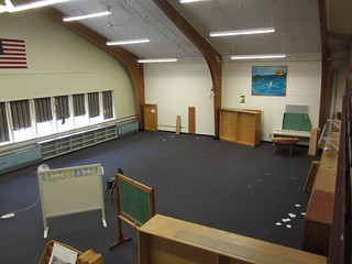 big empty library