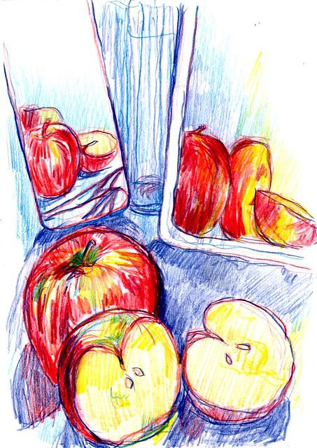 2 manzanas y sus reflejos