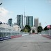 Scenic view down the frontstretch of Toronto's Exhibition Place looking at the Prince's Gate