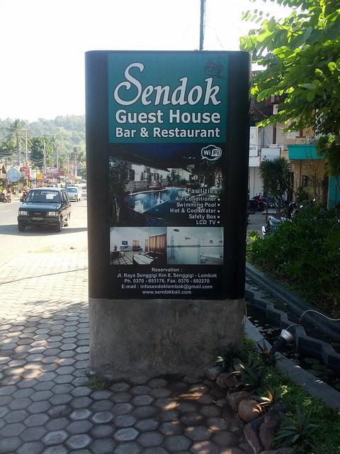 Вывеска Sendok Guesthouse