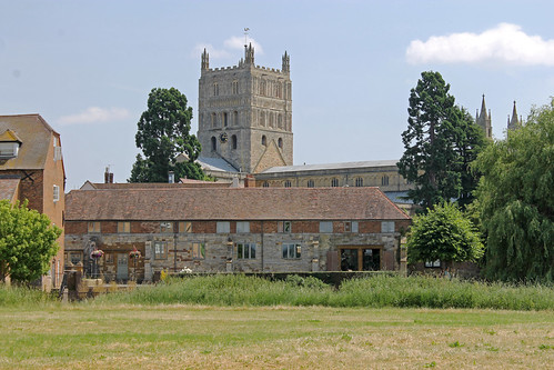 Tewkesbury Abbey print for sale