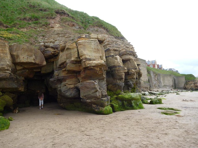 cave on Whitby beach