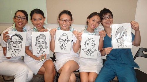 caricature live sketching for Khoo Teck Puat Hospital, Nurses' Day 2013