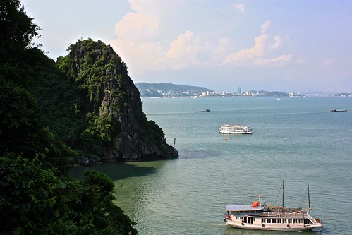 looking out from the caves back towards Ha Long