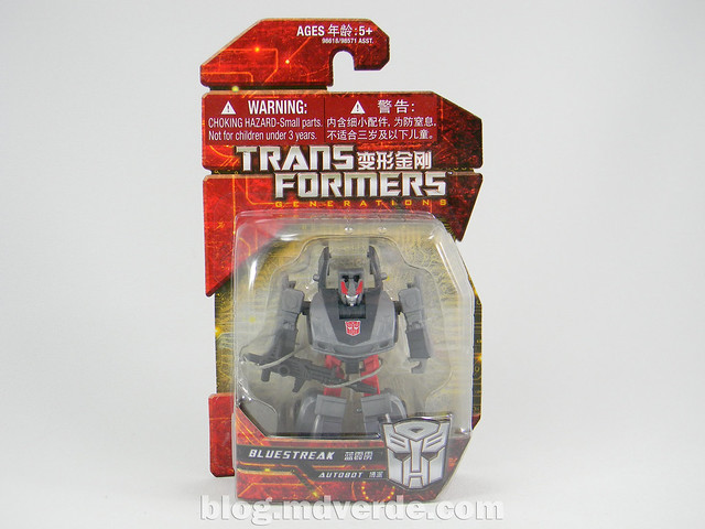 Transformers Bluestreak Legends - Generations GDO - caja