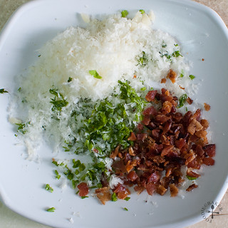 parmesan, bacon and parsley