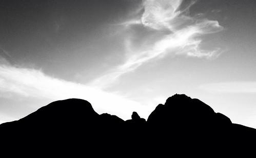 sunset arizona blackandwhite cloud phoenix silhouette iphone papagopark iphone4 papagoparkwestparktrailhead