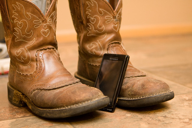 Smartphone with Boots
