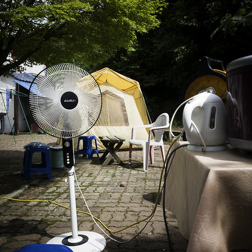 Camping with a Fan